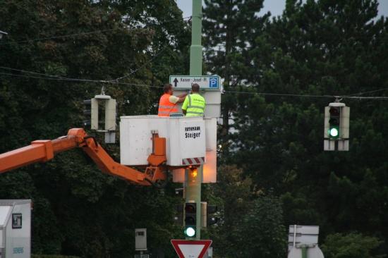 Neues Parkleitsystem in Wels