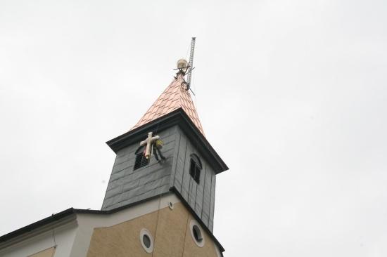Turmkreuzsteckung Marienkirche