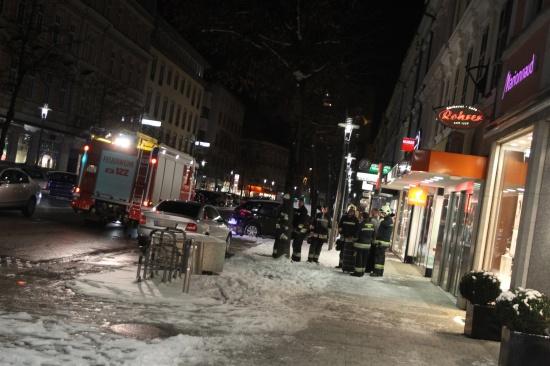 Feuerwehr bei Kleinbrand in der Welser Innenstadt im Einsatz