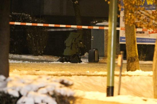 Sprengstoffalarm durch unbeaufsichtigten Koffer im Welser Stadtteil Noitzmühle