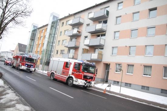 Unklarer Brandgeruch im Stiegenhaus eines Mehrparteienhauses