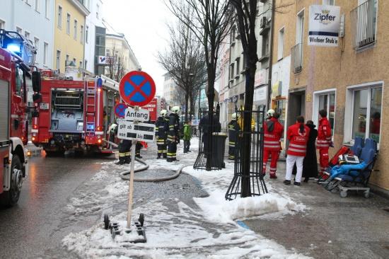 Glücklicherweise keine Verletzten bei Brand in einer Wohnung in der Welser Innenstadt