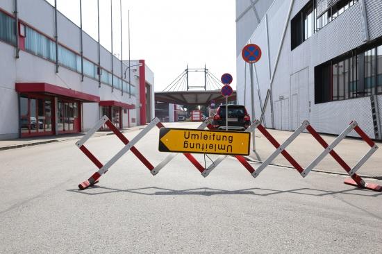 Durchfahrt durch das östliche Messegelände nun auch offiziell gesperrt