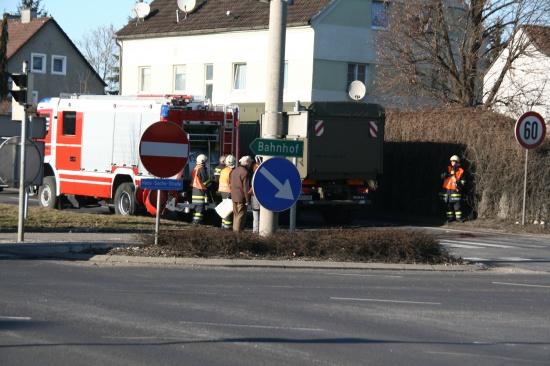 Radfahrerin von Bundesheer-LKW überrollt
