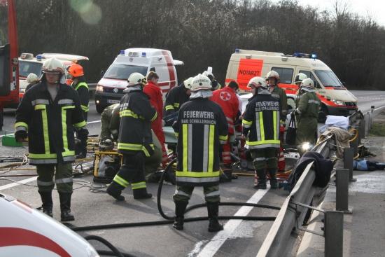 Schwerer Verkehrsunfall bei Wallern