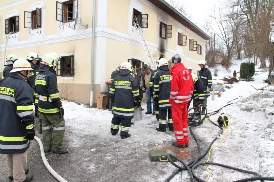 Wohnhaus in Bad Wimsbach ausgebrannt