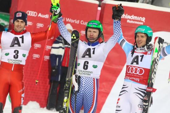 Russe Alexander Choroschilow gewinnt Nightrace in Schladming