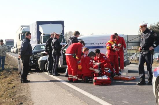 Schwerer Verkehrsunfall in Marchtrenk