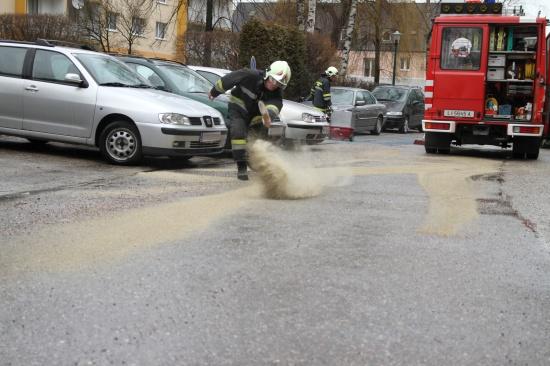 Nach Servicetermin Dieselspur durchs Wohngebiet gezogen