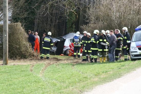 Mit Auto gegen Baum - Zwei Schwerverletzte