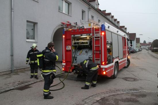 Feuerwehr löschte Mülltonnenbrand