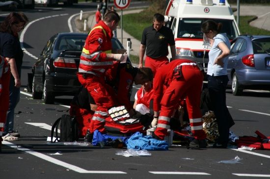 Schwerer Mopedunfall bei Sattledt