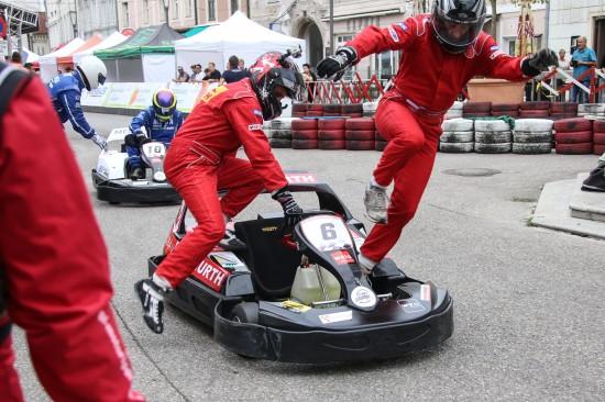 Spannender KartGrandPrix in der Welser Innenstadt