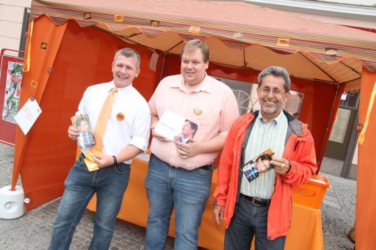 BZÖ-Team Wels-Stadt präsentierte sich mit Informationsstand
