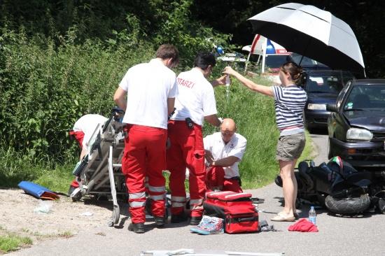 Schwerer Mopedunfall in Sattledt