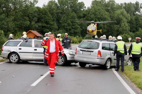 Schwerer Verkehrsunfall auf Gallspacher Straße