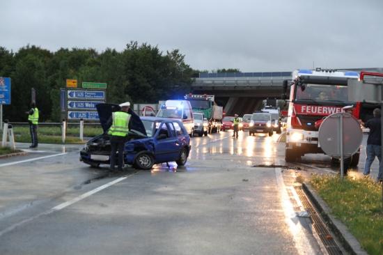 Verkehrsunfall auf Innviertler Straße fordert zwei Verletzte
