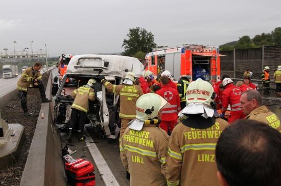 Schwerer LKW-Unfall auf der Westautobahn