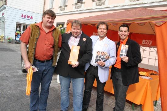 BZÖ informierte in Welser Innenstadt die Bürger
