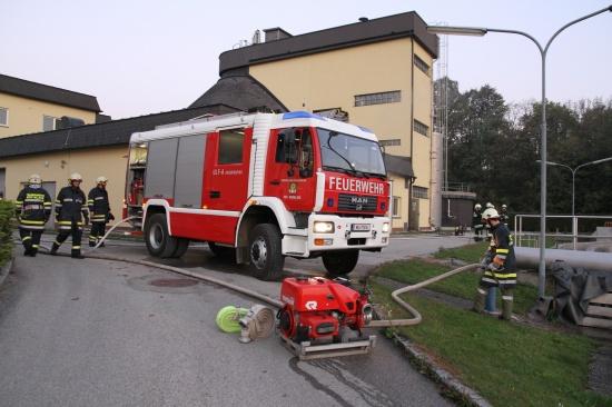 Große Einsatzübung bei der Kläranlage in Edt bei Lambach