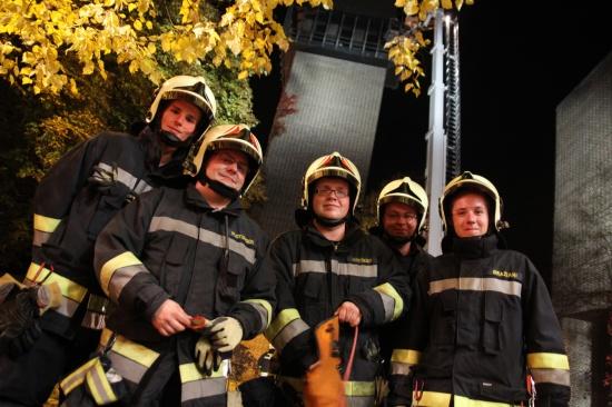 Feuerwehr Wels übte in luftiger Höhe für den Ernstfall
