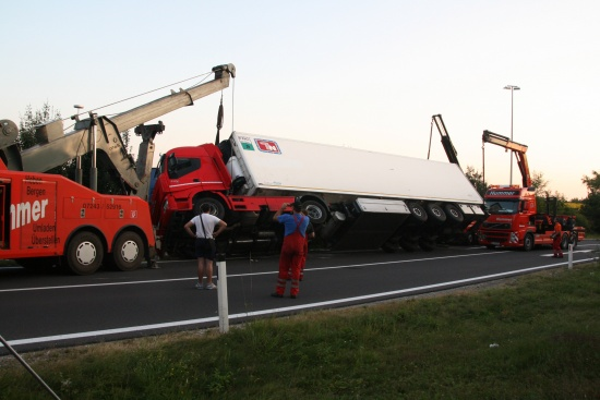 Schwierige LKW-Bergung