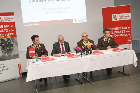 Oberösterreichs Feuerwehren absolvierten im Jahr 2016 53.456 Einsätze