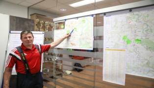 Einsatzleitung und Einsatzkräfte der Feuerwehr Vorchdorf mit Übungsunwetter für den Ernstfall vorbereitet