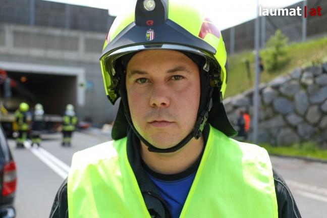 Harald Grobner, Einsatzleiter der Feuerwehr Hargelsberg