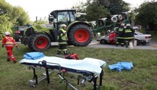 Einsatzübung mit schwieriger Unfallsituation in Pichl bei Wels