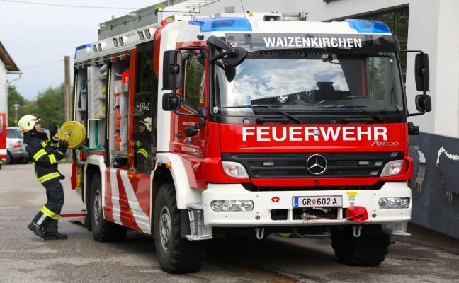 Vier Feuerwehren bei Brand in Waizenkirchen im Einsatz