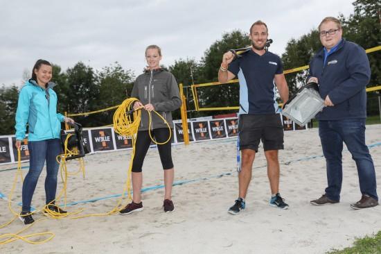 Countdown und letzte Vorbereitungen für den Maxlhaider Beachcup in Wels-Schafwiesen
