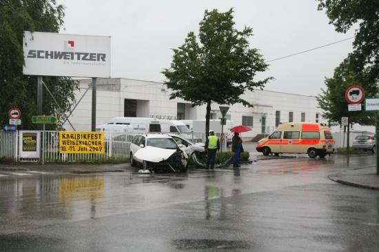 Unfall im Kreuzungsbereich