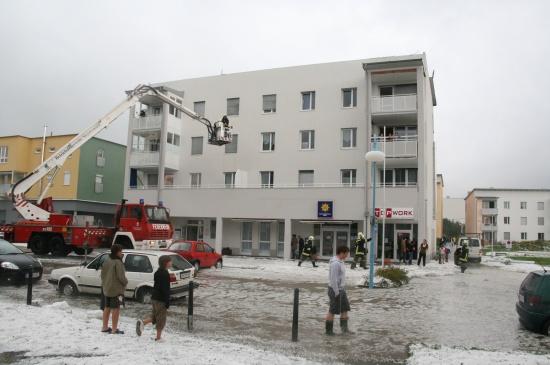 Hagel-Unwetter zieht über Oberösterreich