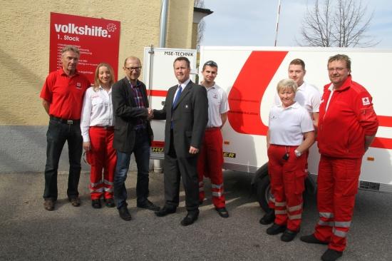 Rotes Kreuz überreichte Sachspenden an die Volkshilfe Wels