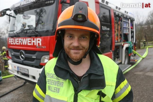 Dominik Richtsteiger, Einsatzleiter Feuerwehr Wallern an der Trattnach